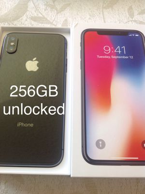 Apple iPhone X 256GB (T-MOBILE) UNLOCKED $480 FIRM for Sale in Santa Ana, CA