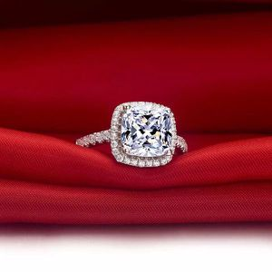 Stamped 925 Sterling Silver Engagement Ring - Emerald Cut Diamond - each $47 for Sale in Washington, DC