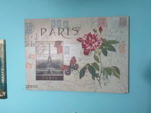Paris Decoration Canvas for Sale in Miami, FL