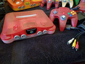 Nintendo 64 Watermelon & Clear N64 Region Free - Beautiful & All Original for Sale in Bakersfield, CA