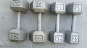 Set of 25s and 35s Exercise Weights for Sale in Peachtree Corners, GA