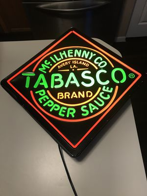 "Used, Rare Hot Sauce Tabasco pepper sauce light up sign 15.5"" x 15.5"" for Sale for sale  Gilberts, IL"