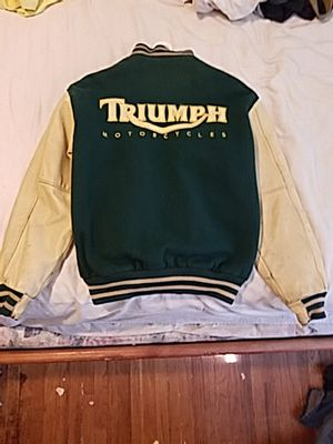 Triumph motorcycle letterman Jacket for Sale in Long Beach, CA