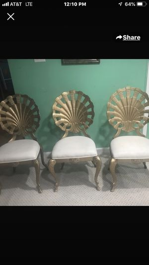 5 pc antique metal chairs for Sale in Frederick, MD