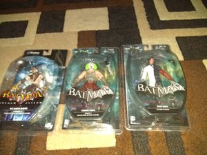 RIGHT NOW ALL 3 BATMAN ACTION FIGURES COLLECTION BRAND NEW SEALED NEVER OPENED ASKING ONLY FOR $45.00 FOR ALL 3 FIGURES for Sale in Phoenix, AZ
