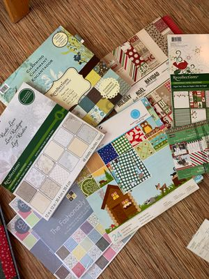 Scrapbooking paper, including Christmas theme for Sale in Los Angeles, CA