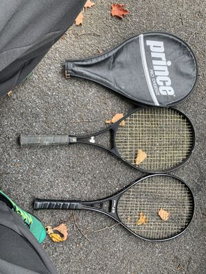 Prince over size racket and prince j/r racket for Sale in Westbury, NY