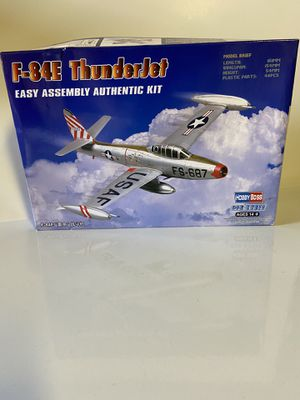 F-84E Thnderjet easy to assemble authentic kit. for Sale in Whittier, CA