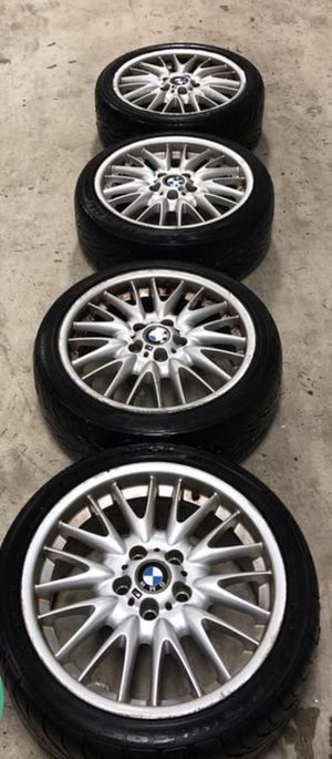 """Bmw """"m""""rims with tires for Sale in Portland, OR"""