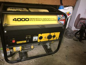 Champion generator for Sale in Worcester, MA