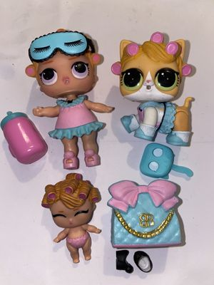"Lol series 3 ""babydoll"" lil sis, and kitty doll for Sale in Portland, OR"