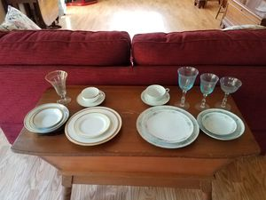 Antique china......2 complete sets. 12 piece, plus serving dishes and glassware $150 per set or $250 for both for Sale in Orlando, FL