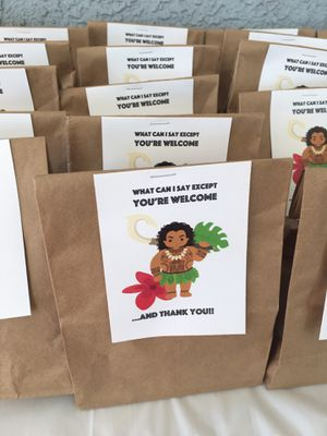 Moana goody bags for Sale in Tustin, CA