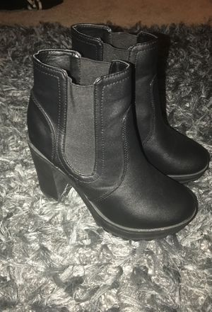 Black heeled booties for Sale in Silver Spring, MD