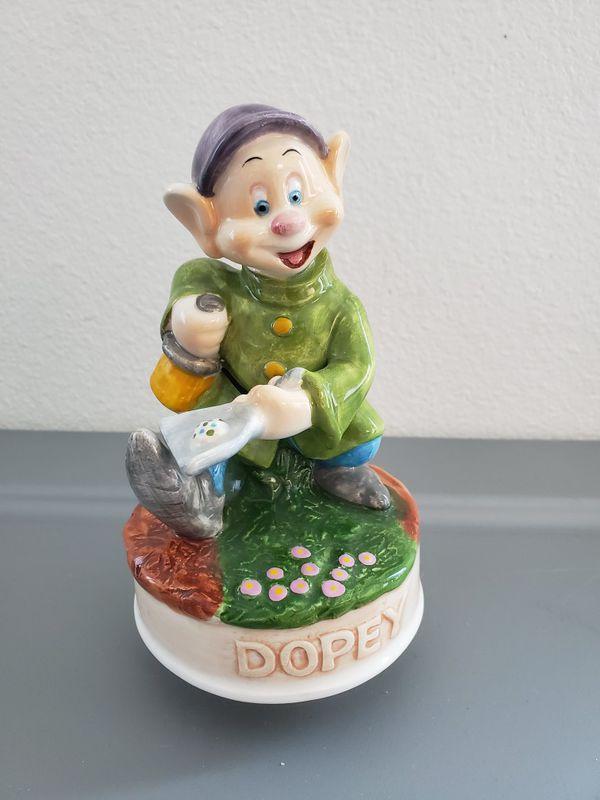 Schmid Disney Music box Dopey Snow White & The Seven Dwarfs Collectible