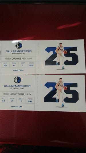 Mavericks vs Phoenix Suns for Sale in Grapevine, TX