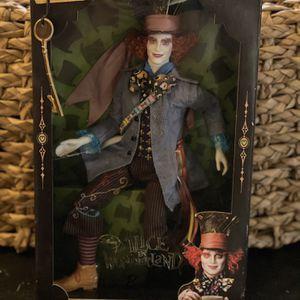 Disney Barbie ALICE IN WONDERLAND Mad Hatter JOHNNY DEPP Mattel DOLL for Sale in Santee, CA