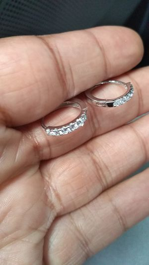 White gold earrings for Sale in Columbus, OH
