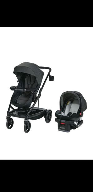 GRACO UNO2DOU Travel system with SnugRide SnugLock 35 Click Connect Infant Car Seat for Sale in Bronx, NY