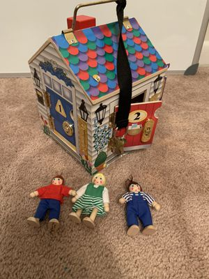 Melissa & Doug wooden dollhouse for Sale in Franklin, TN