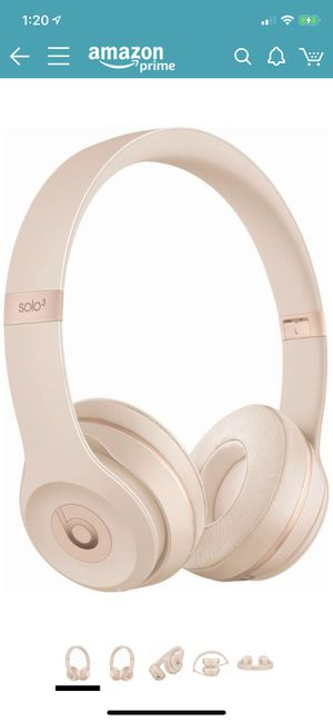 Beats Solo 3 Wireless On-Ear Headphones - Matte Gold for Sale in Houston, TX