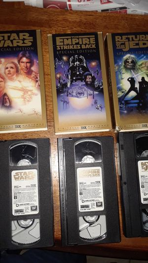 Special edition. Star wars videos tapes for Sale in Houston, TX
