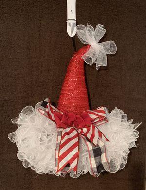Homemade Santa Hats wall/door hanger for Sale in Durham, NC