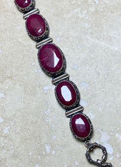 Samuel Benham BJC Sterling Silver And Ruby Bracelet for Sale in Auburn,  WA