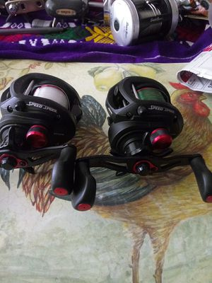 2 fishing reel left handle 8 Bearings system brand new only used two times for Sale in Portland, OR