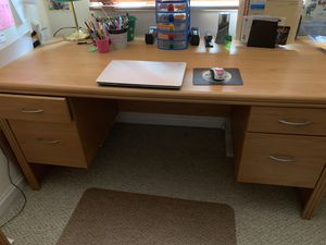 Desk with 2 large drawers for hanging folders for Sale in Miramar, FL