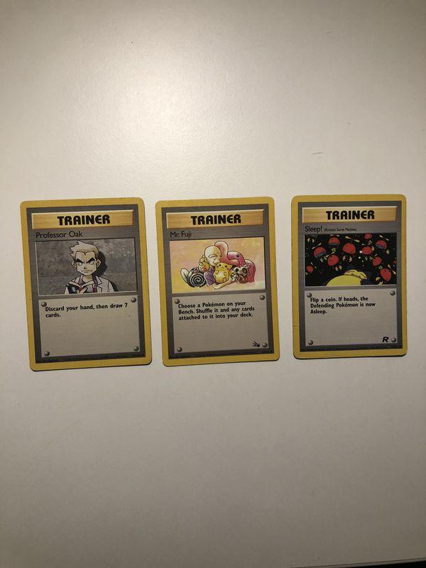 Pokemon 1st edition trainers