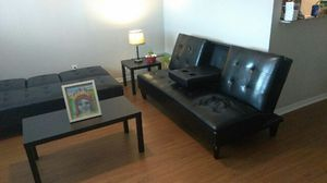 2 Futons 2 end tables 1 coffee table for Sale in Austin, TX