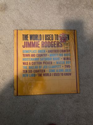 Jimmie Rodgers, The world I used to know record for Sale in Puyallup, WA