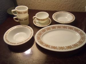 Pyrex plate mugs bowls for Sale in Houston, TX