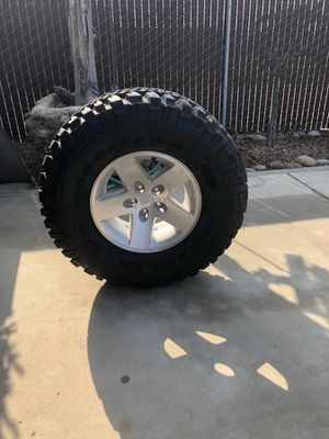 I have a very nice spare tire and wheel for sale. Came off of a 2005 Jeep Wrangler for Sale in Sanger, CA