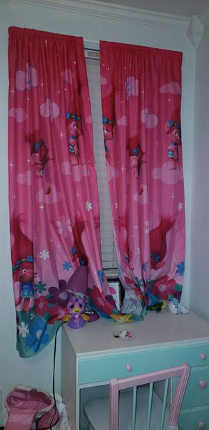 Trolls curtains for Sale in Saginaw, TX