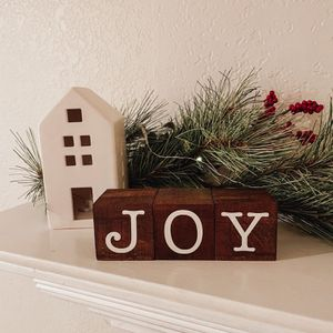 Handmade Christmas Decor Blocks for Sale in Placentia, CA