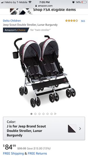 Jeep Double Stroller NEW for Sale in Bakersfield, CA