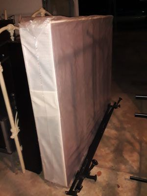 FULL SIZE BOX SPRING AND METAL FRAME for Sale in Philadelphia, PA