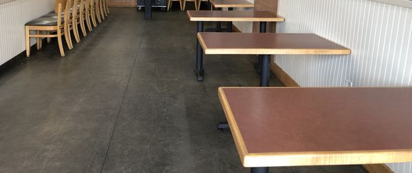 Wooden Restaurant Table & Chairs