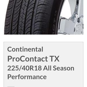 Continental Procontact Tx 245/45 R/18 for Sale in Oro Grande, CA