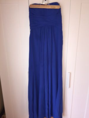 Davids bridal brides maid dress royal blue size 4 for Sale in Fairfax, VA