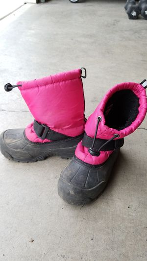 Girls snow boots size 12 little kid for Sale in Everett, WA