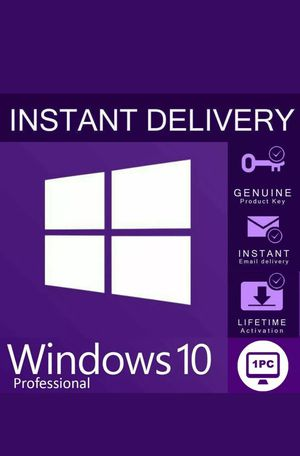 Windows 10 pro activation key genuine license 32/64 bit instant delivery for Sale in Bountiful, UT