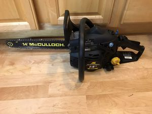 McCulloch chain saw for Sale in Wheaton, IL