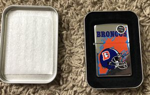 Broncos Zippo for Sale in Clinton Township, MI