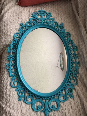 """Fancy Turquoise 31"""" x 19"""" Oval Wall Mirror for Sale in Sebastian, FL"""