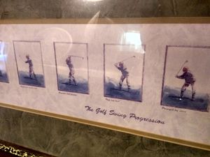 Three framed golf pictures for Sale in Pittsburg, KS