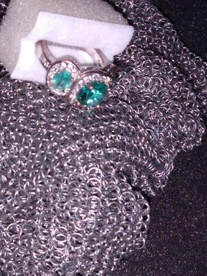 Emerald silver ladies ring embezzled for Sale in Glendale, AZ