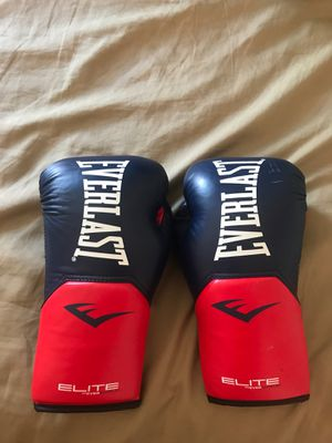Everlast Navy/ Red Elite Pro Boxing Gloves for Sale in Shaker Heights, OH